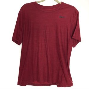Nike Dri-Fit Red Short Sleeve Mens Tee Large